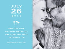 custom save-the-date cards - sky - tiny charms (set of 10)