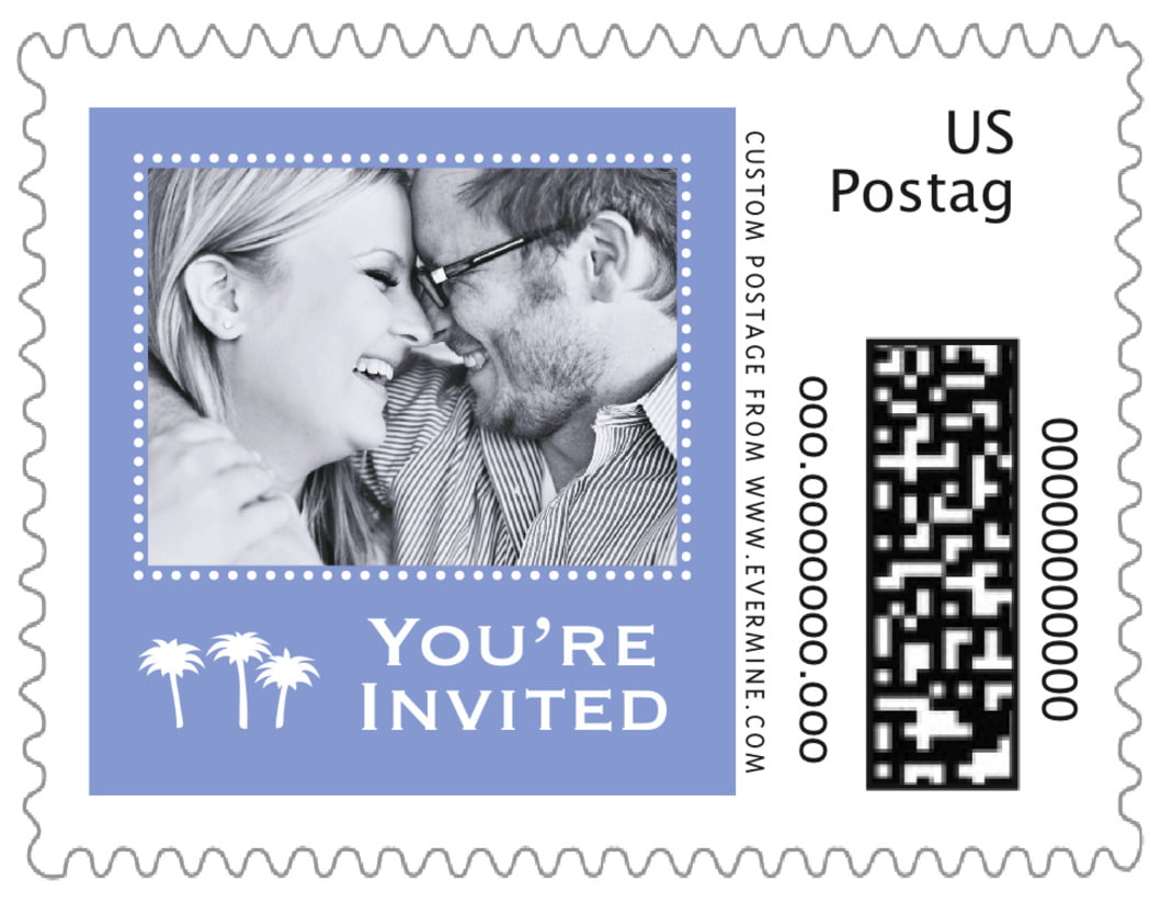 small custom postage stamps - periwinkle - tiny charms (set of 20)