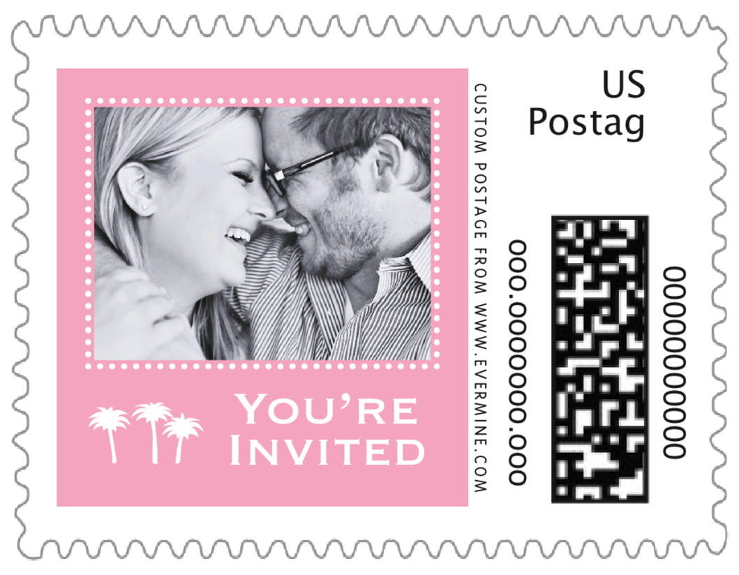 small custom postage stamps - pale pink - tiny charms (set of 20)