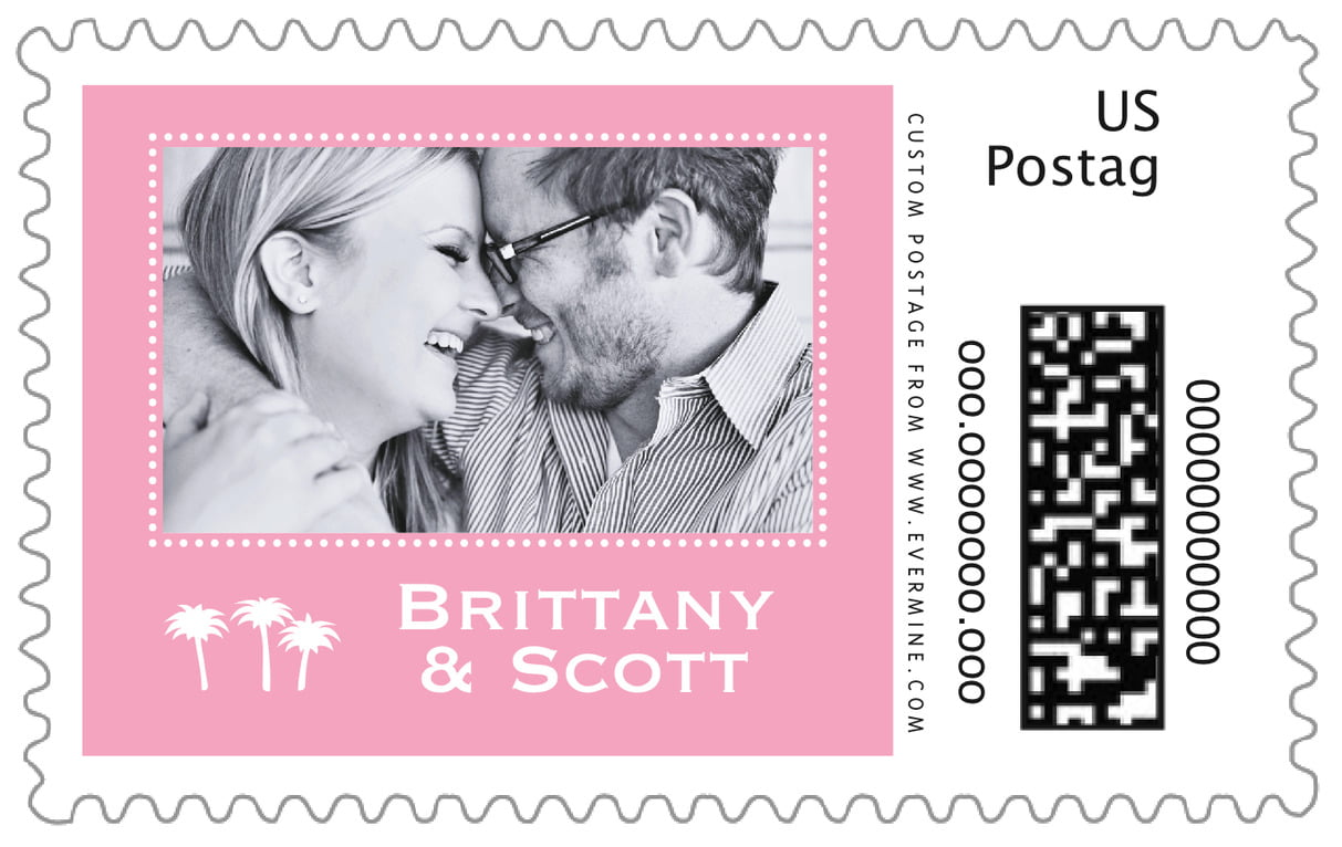 custom large postage stamps - pale pink - tiny charms (set of 20)