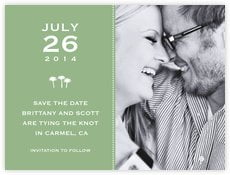 Tiny Charms save the date cards
