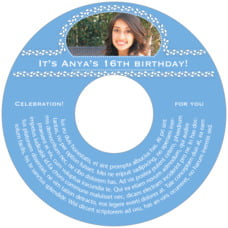 Tiny Charms sweet sixteen CD/DVD labels