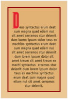 Teutonic Text Label In Red, Black & Gold