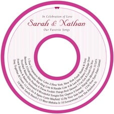 Tiny Hearts valentine's day CD/DVD labels
