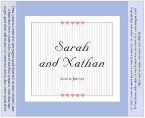 Tiny Hearts large wide labels