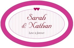 Tiny Hearts large oval labels