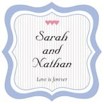 Tiny Hearts fancy square labels