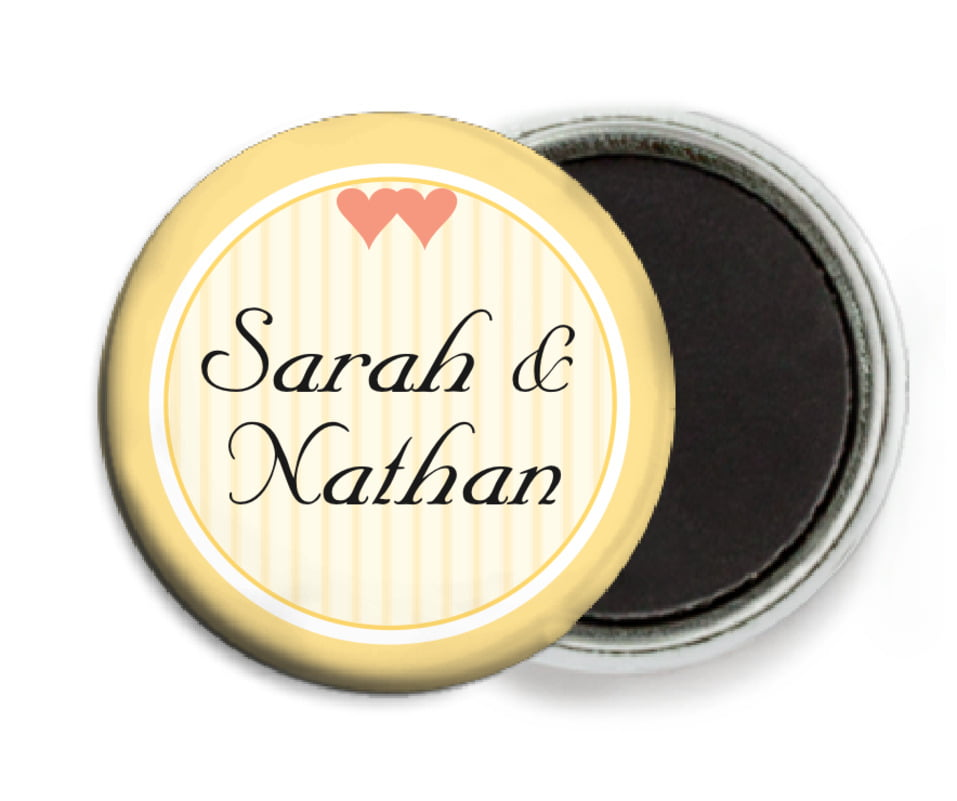 custom button magnets - sunburst - tiny hearts (set of 6)
