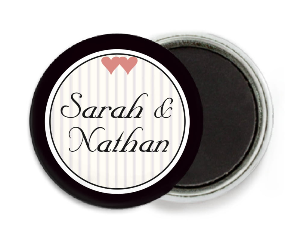 custom button magnets - tuxedo - tiny hearts (set of 6)