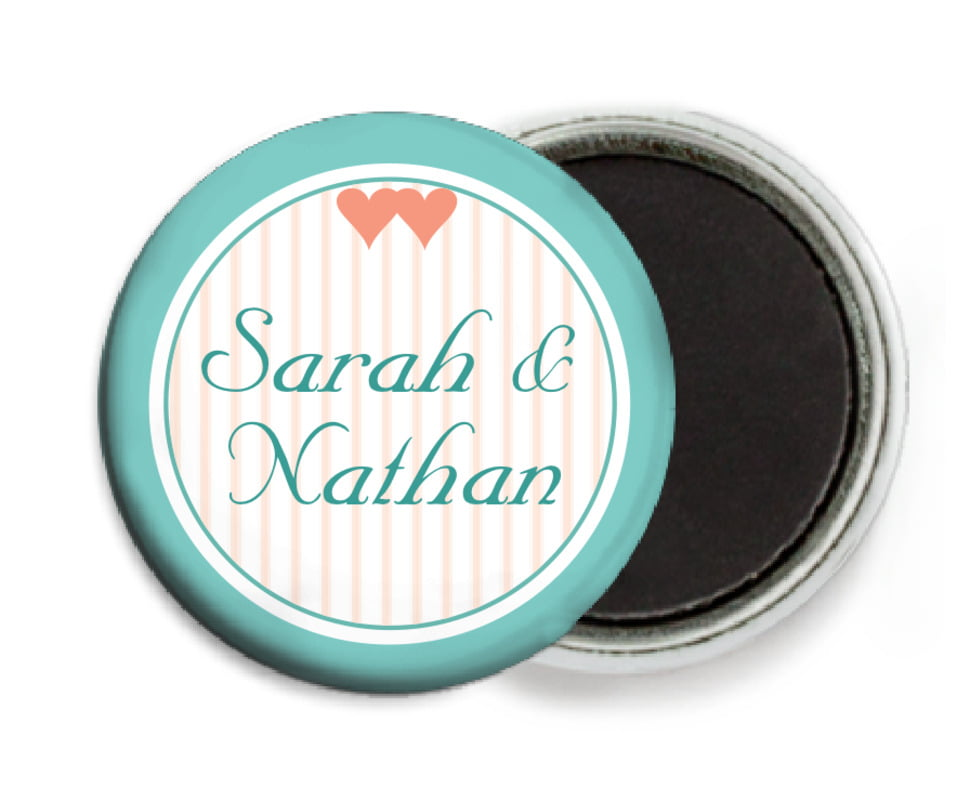 custom button magnets - aruba - tiny hearts (set of 6)