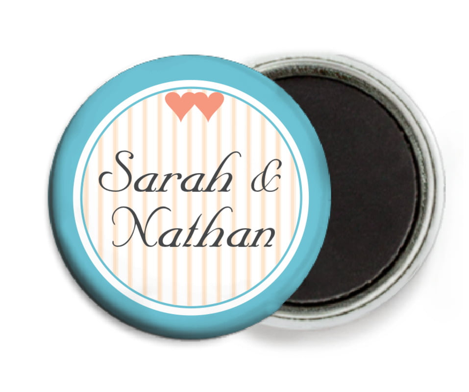 custom button magnets - sky - tiny hearts (set of 6)