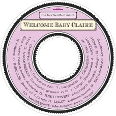 Treasury baby shower CD/DVD labels