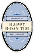 Treasury birthday beer labels