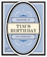 Treasury birthday wine labels
