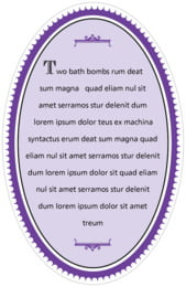 Treasury oval text labels