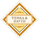 Treasury small diamond hang tags