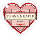 Treasury heart hang tags