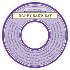 Treasury father's day CD/DVD labels