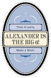 Treasury tall oval labels