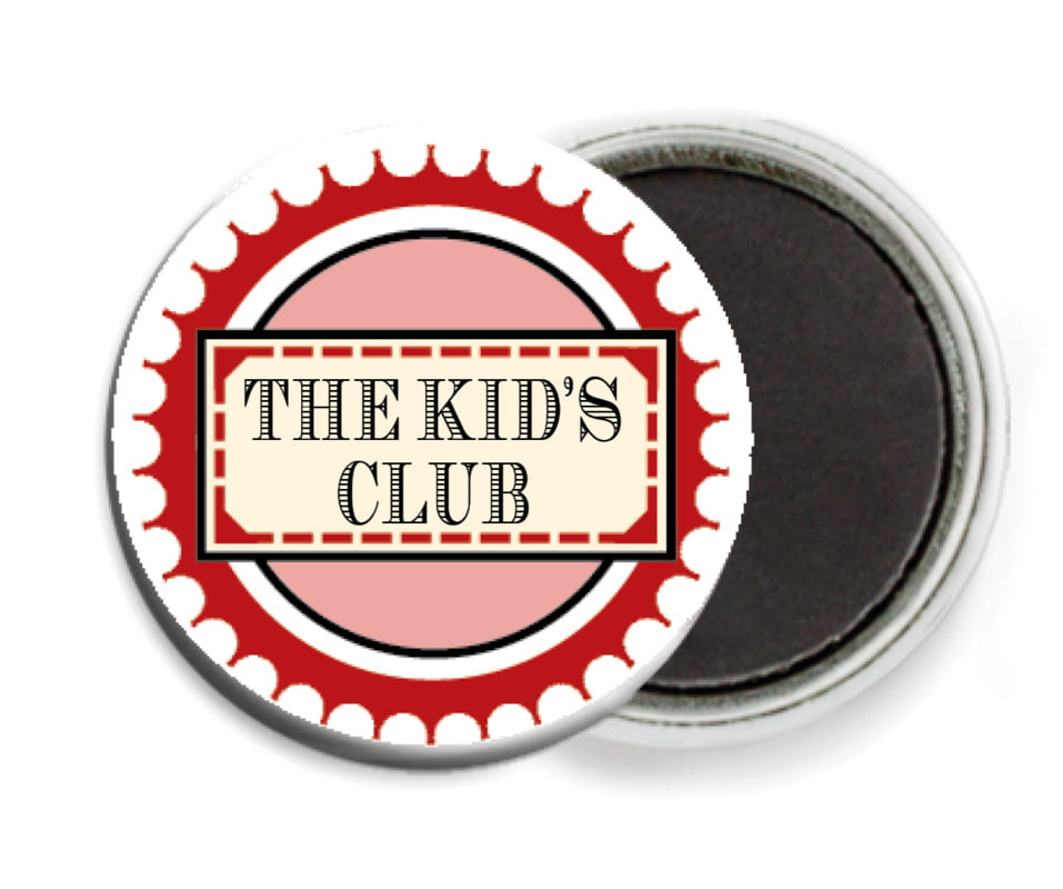custom button magnets - red - treasury (set of 6)