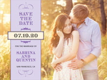 custom save-the-date cards - plum - treasury (set of 10)