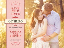custom save-the-date cards - red - treasury (set of 10)