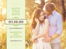 custom save-the-date cards - lime - treasury (set of 10)