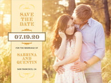 custom save-the-date cards - lemon - treasury (set of 10)