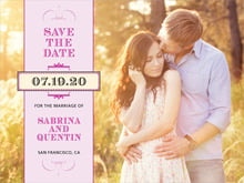 custom save-the-date cards - berry - treasury (set of 10)