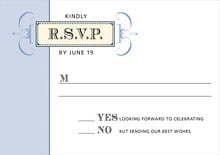 custom response cards - blue - treasury (set of 10)