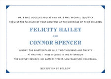custom invitations - blue - treasury (set of 10)