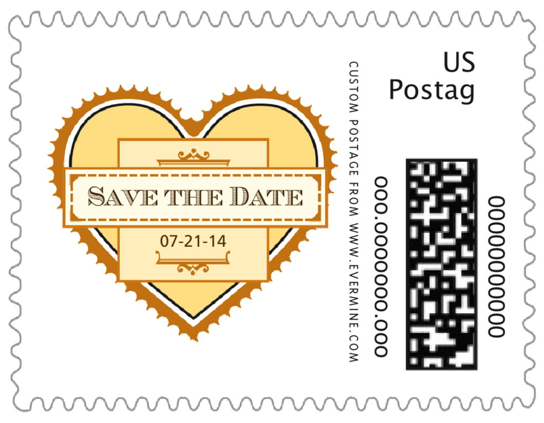 small custom postage stamps - lemon - treasury (set of 20)