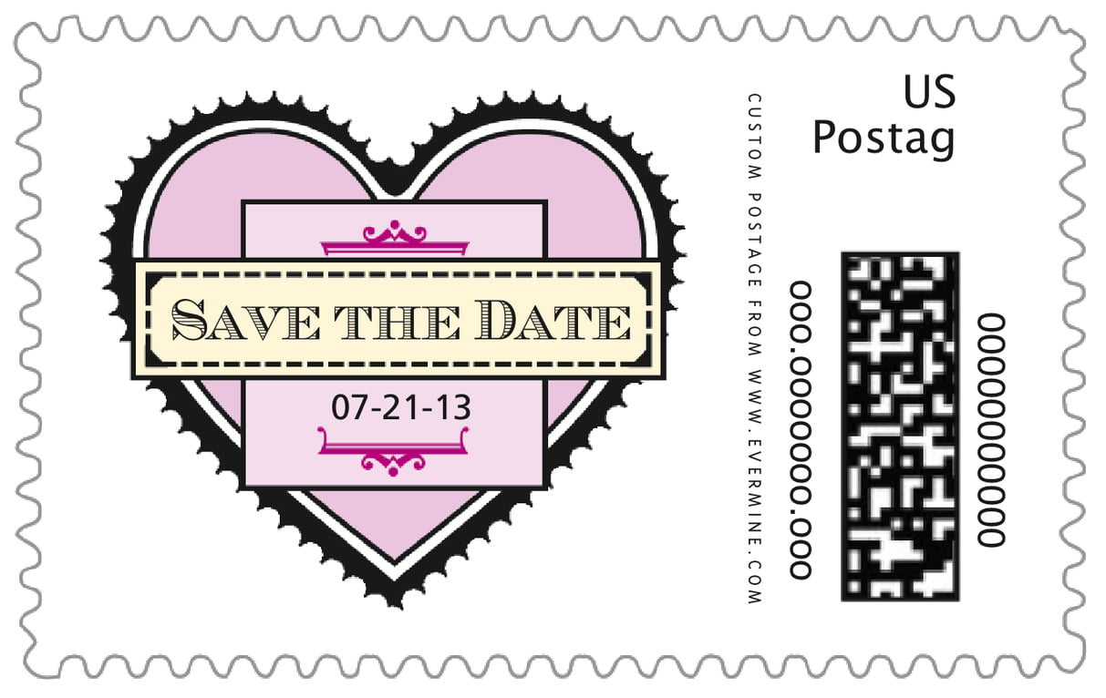 custom large postage stamps - berry - treasury (set of 20)