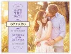 Treasury save the date cards