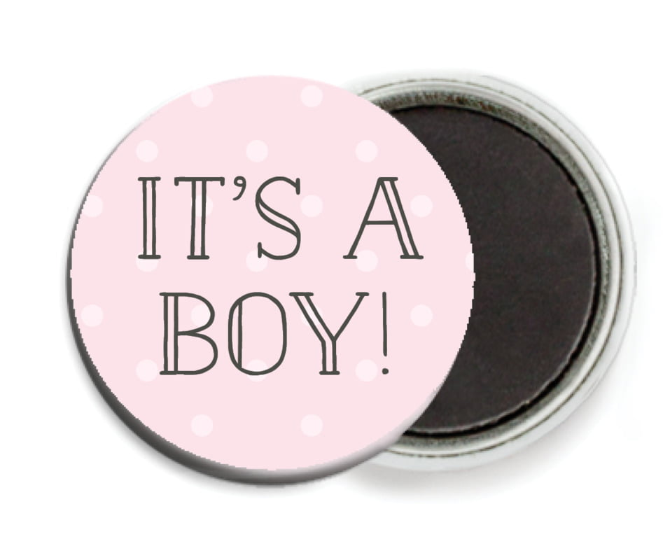 custom button magnets - pink - twinkle twinkle (set of 6)