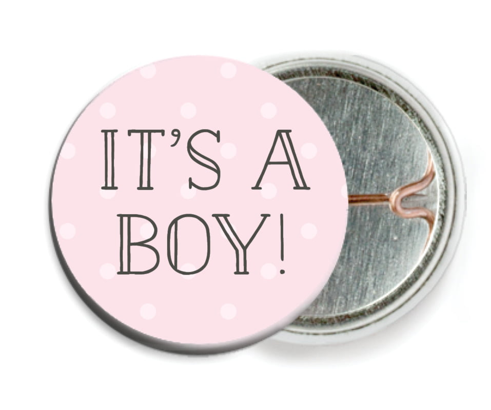 custom pin back buttons - pink - twinkle twinkle (set of 6)