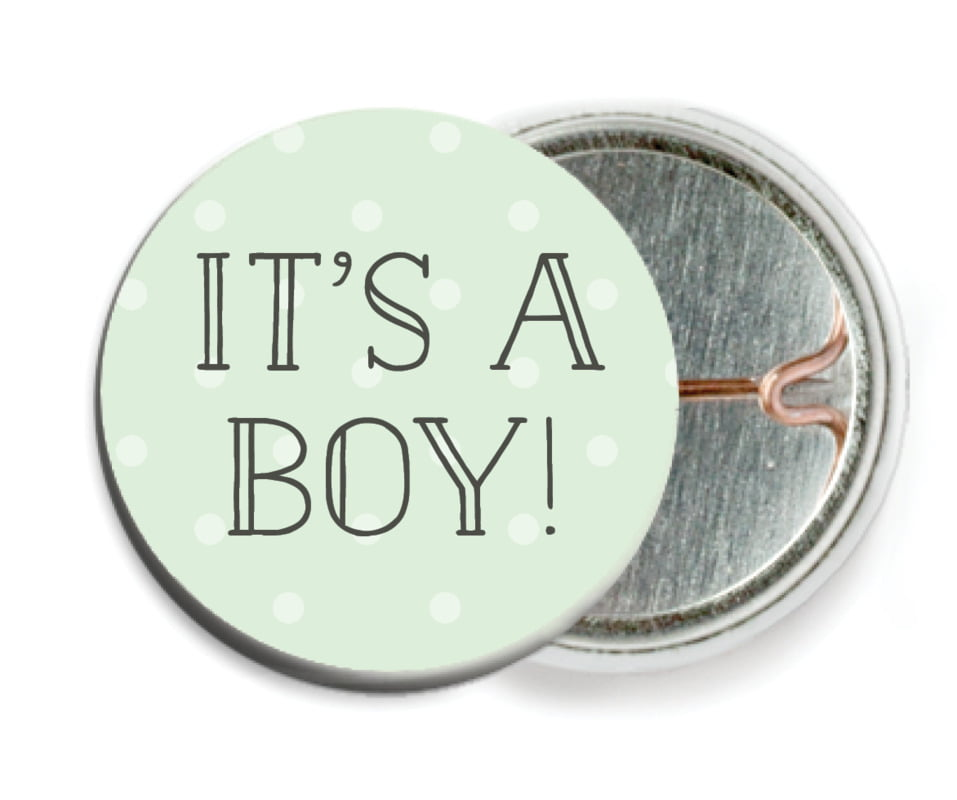 custom pin back buttons - mint - twinkle twinkle (set of 6)