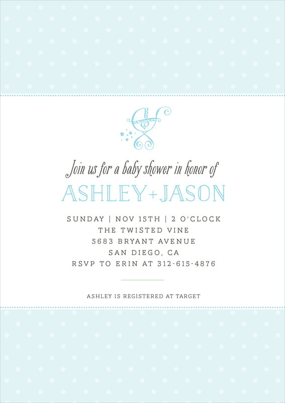 baby shower invitations - bahama blue - twinkle twinkle (set of 10)