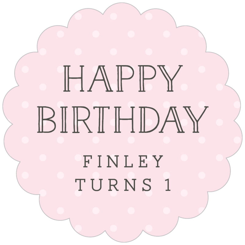 scallop food/craft labels - pink - twinkle twinkle (set of 20)