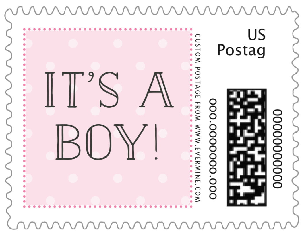small custom postage stamps - pink - twinkle twinkle (set of 20)