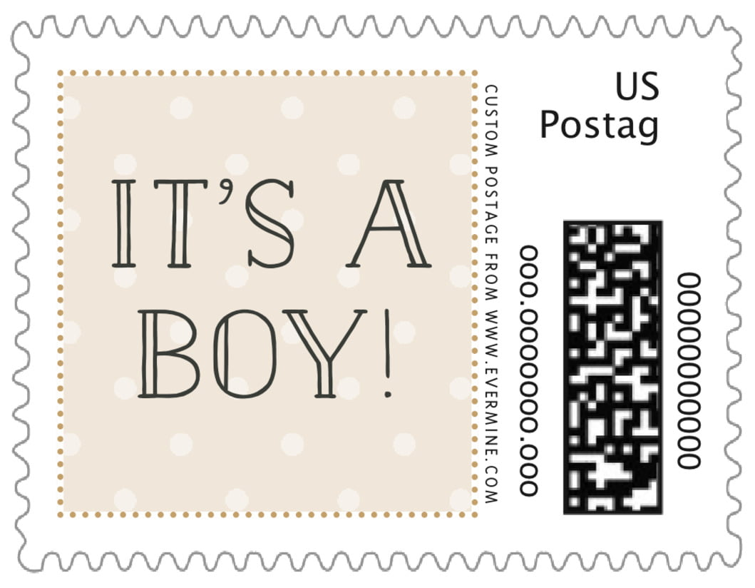 small custom postage stamps - cappuccino - twinkle twinkle (set of 20)