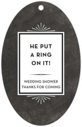 Tuxedo Formal large oval hang tags