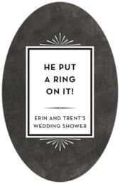 Tuxedo Formal tall oval labels