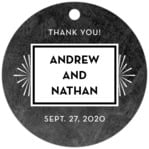 Tuxedo Formal circle hang tags