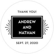 Tuxedo Formal large circle labels