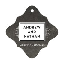 Tuxedo Formal fancy diamond hang tags