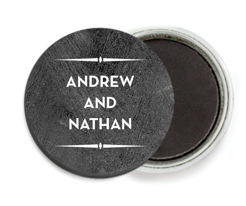 custom button magnets - chalkboard tuxedo - tuxedo formal (set of 6)