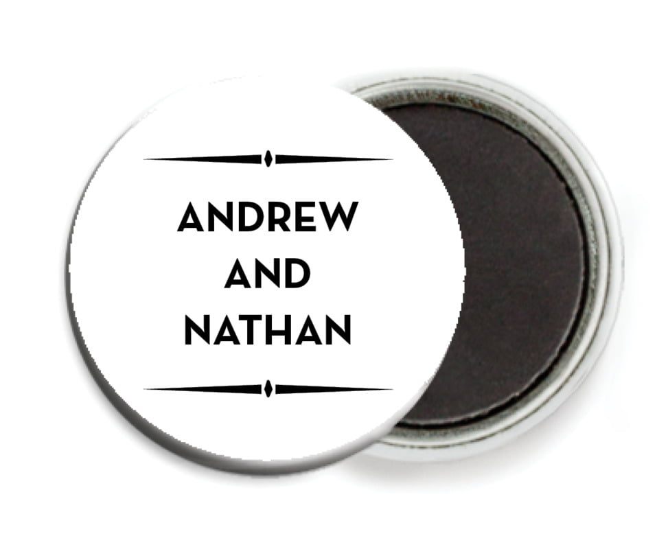 custom button magnets - tuxedo - tuxedo formal (set of 6)