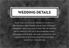 custom enclosure cards - chalkboard tuxedo - tuxedo formal (set of 10)