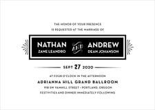 custom invitations - tuxedo - tuxedo formal (set of 10)
